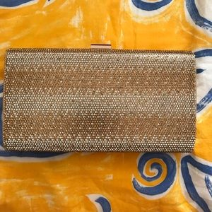 Gold clutch evening bag!